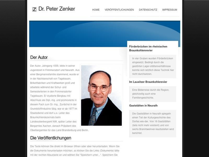 Screenshot von http://www.peter-zenker.de